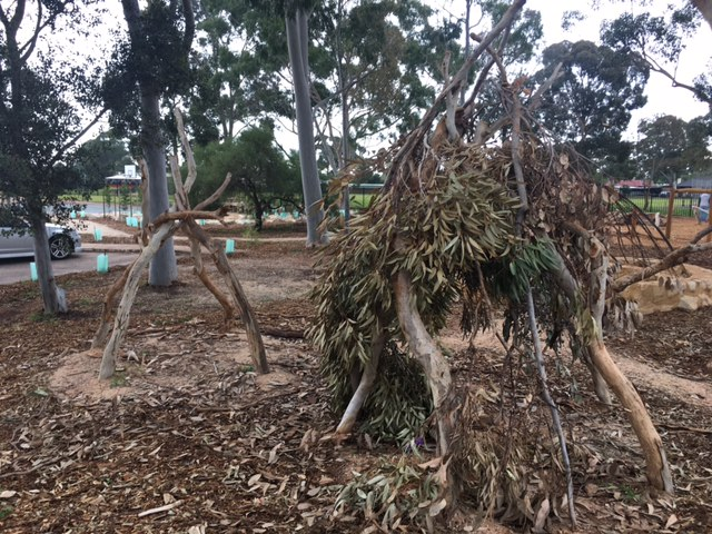 Nature play teepees